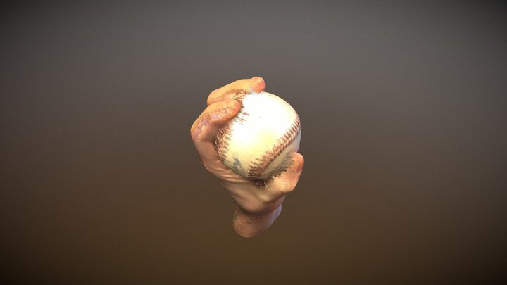 Four seam fastball grip 3D Model