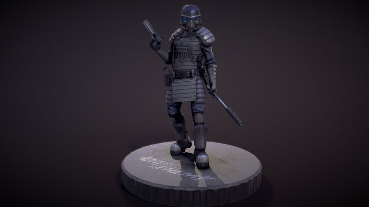 Federation Soldier Pose B 3D Model