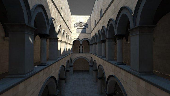 Sponza atrium 3D Model