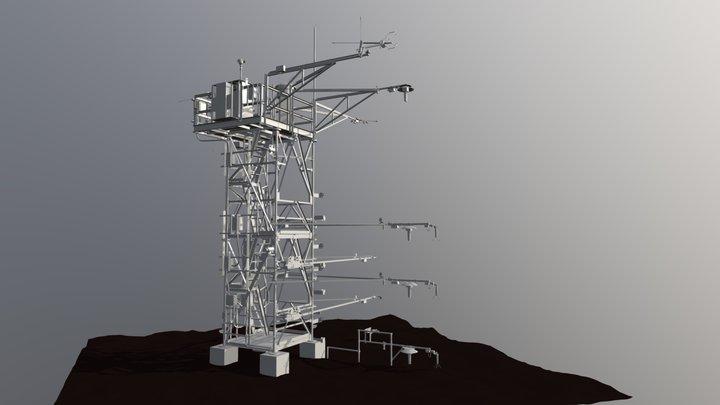 NEON Meteorological Flux Tower 3D Model