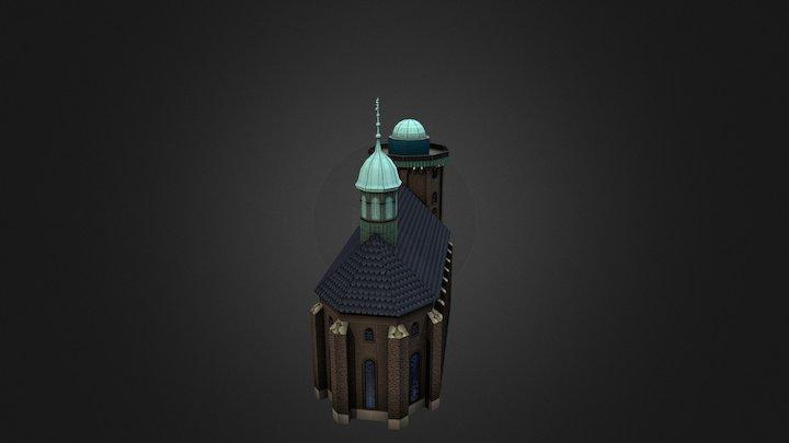 Rundetaarn Tower - Copenhagen, Denmark 3D Model