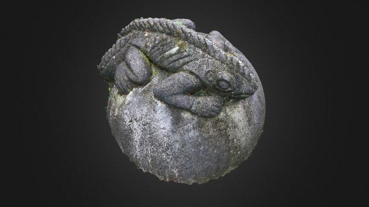 Lizard Sphere Sculpture