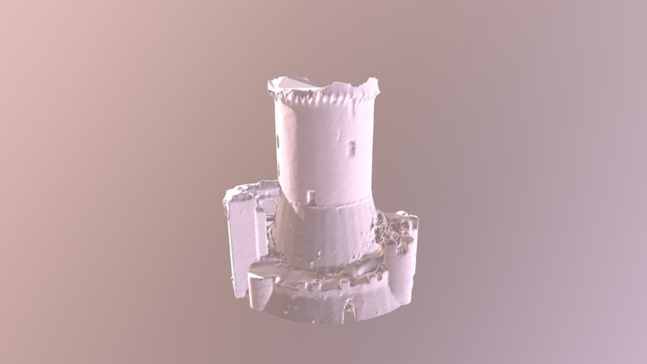 Torre Di Velia Scansionata e Ricostruita 3D Model