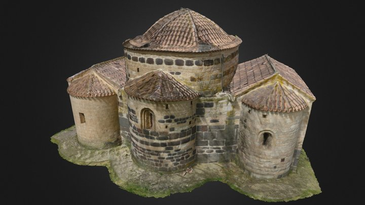 Byzantine Church and Nuraghe Santa Sabina 3D Model