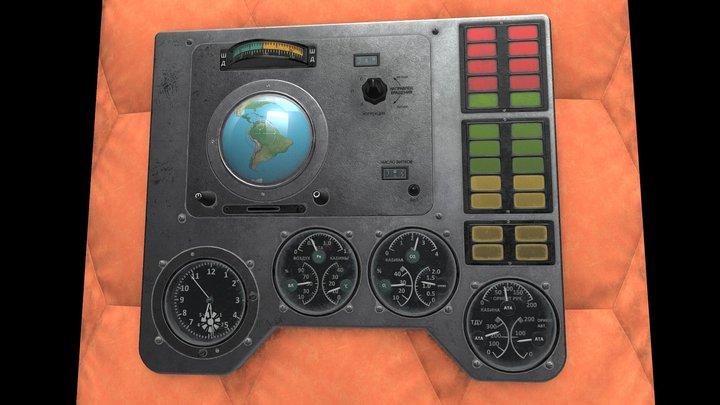 Panel from Vostok 1 Spacecraft 3D Model