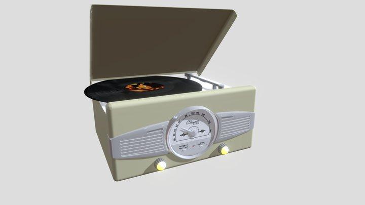 Gitadischi vintage, vintage turntable 3D Model