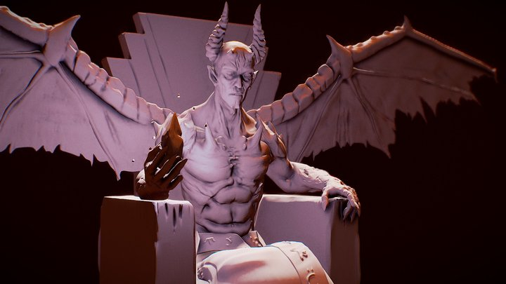 Demon and the throne 3D Model