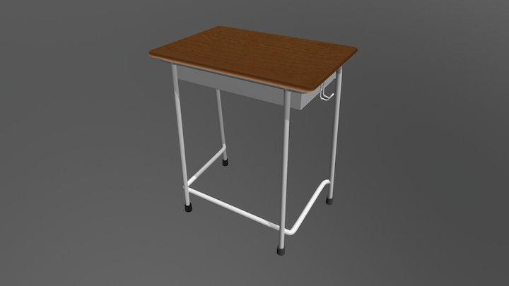 School Tsukue 3D Model