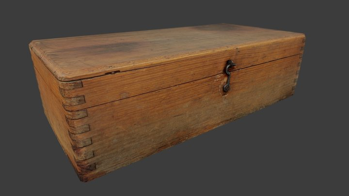 Old Wooden Box - Low Poly - Photogrammetry 3D Model