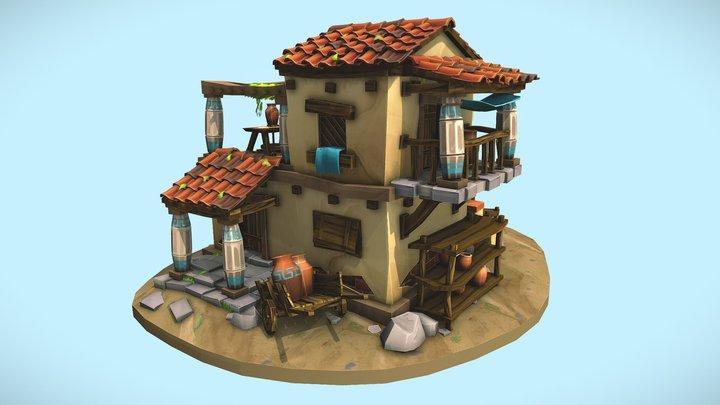 Greek Pottery house DAE 3D Model