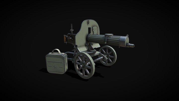 Maxim gun 3D Model