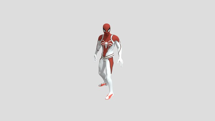 Idle Spider-Man Mixamo Test 3D Model