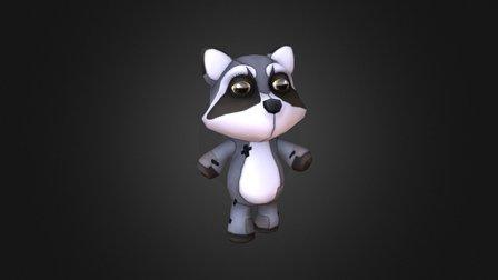 Teddy Raccoon 3D Model