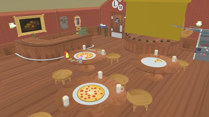 Rootin' Tootin' Pizza Place 3D Model