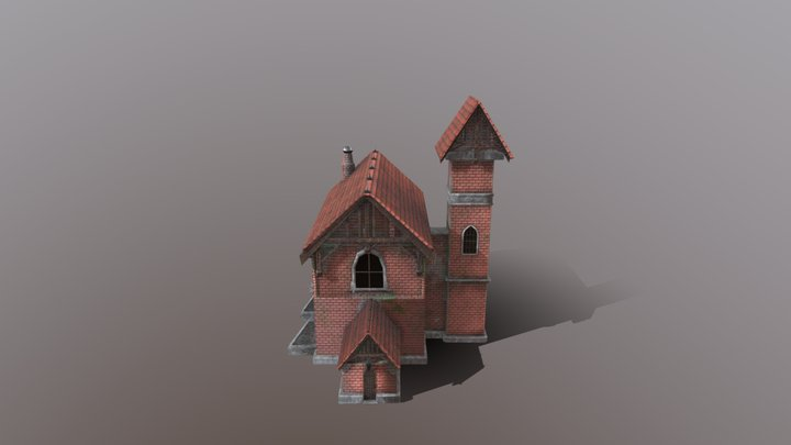 Old Neo-Gothic house 3D Model