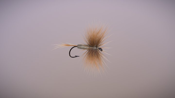 Adams Dry Fly 3D Model