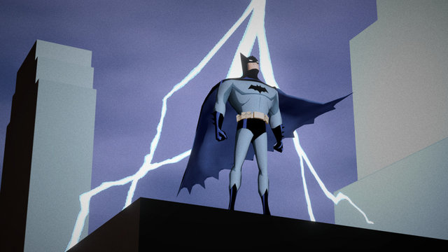 Batman : The Animated series intro scene. 3D Model