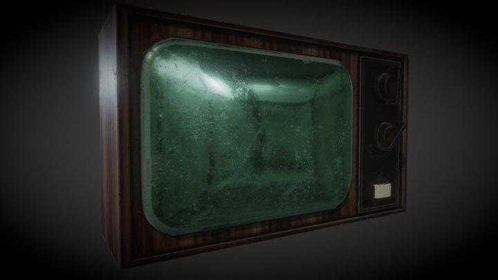 OLD TV(PBR) 3D Model