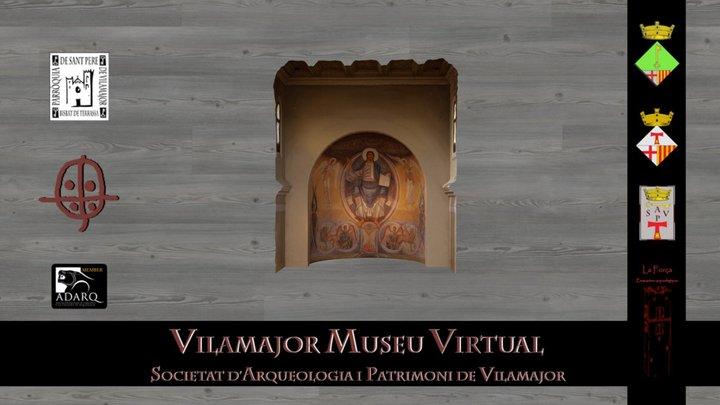 Pantocràtor església Sant Antoni de Vilamajor 3D Model