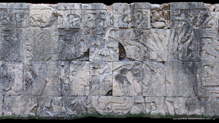 Panel oeste - Juego de Pelota de Chichén Itzá 3D Model