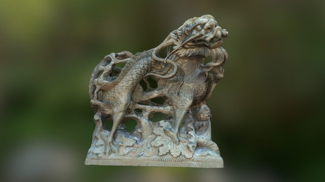 Dragon Sculpture 3D Model