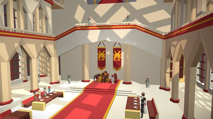 Throne room - Medieval Fantasy Challenge 3D Model