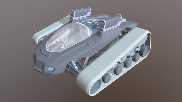 Battle Trak Wip 03 3D Model