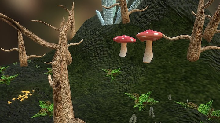 Magic Forest Test 3D Model