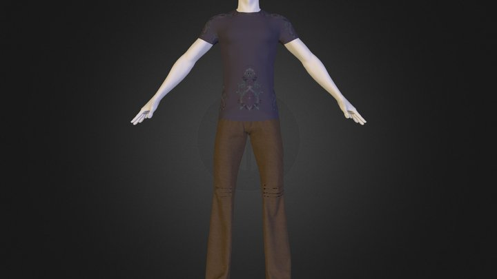 Cargo Pants with T-Shirt 3D Model