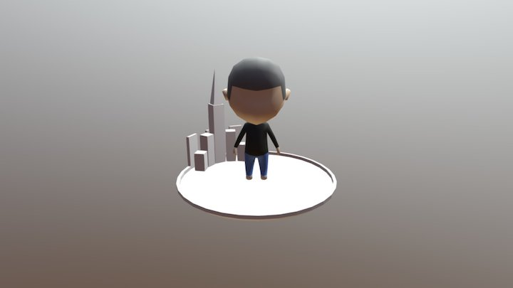 Shaved Head Character 3D Model
