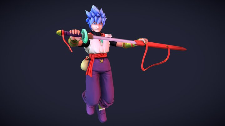 Ryu From Breath of Fire 4 3D Model