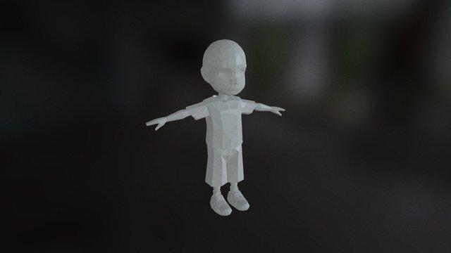 Knox Vijay Low Poly Kid 02 3D Model