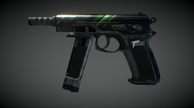 CZ75 - TAKEOVER (Green) 3D Model