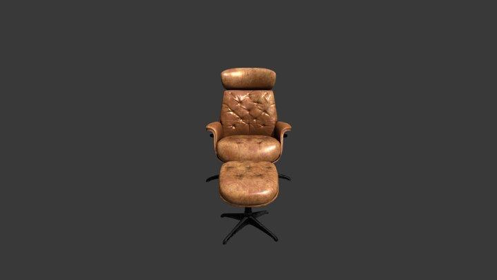Armchair V001 3D Model