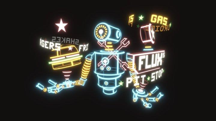 Flux's Pit Stop 3D Model