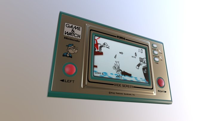 Game and Watch Popeye nintendo (modeling 005) 3D Model