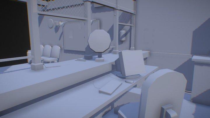 Simple blockout 3D Model