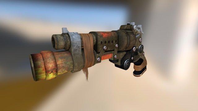 Apocalyptic Hand-gun 3D Model