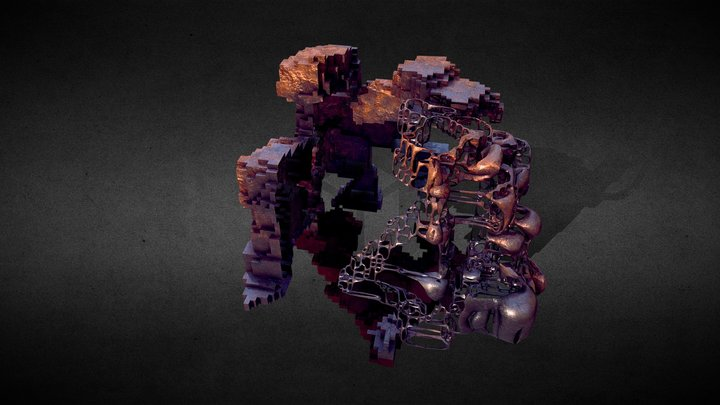 Tech cube 04 3D Model