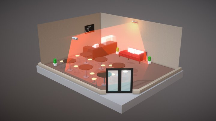Cafe Example 3D Model