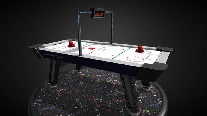 Arcade Air Hockey - Realistic GameReady 3D Model