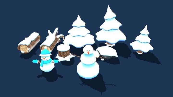 Winter forest  (Model Pack 2) 3D Model