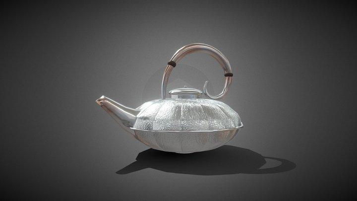 Antique Silver Teapot 3D Model