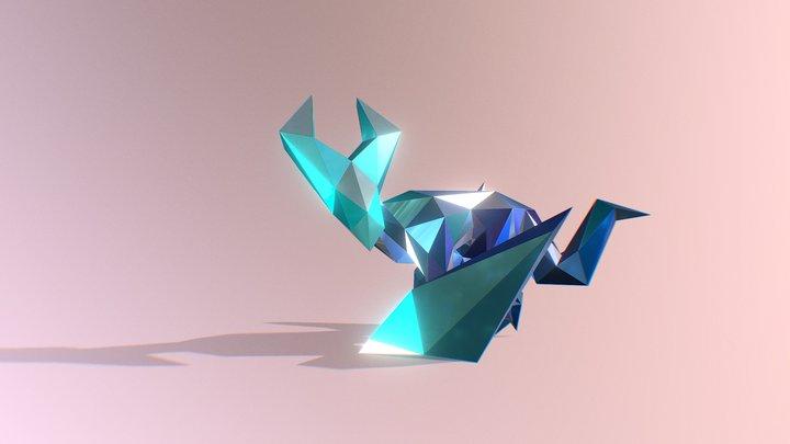 Wyvern Low Posed 3D Model