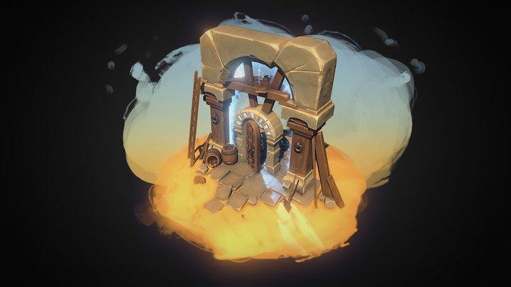 Desert Portal 3D Model
