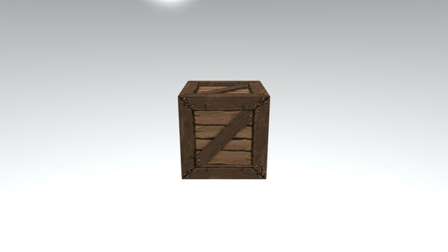 Handpainted Crate 3D Model
