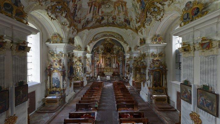 Kirche Nur Innen 3D Model