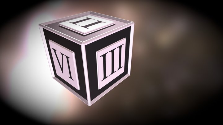 Roman Numeral Dice (Version 1) 3D Model