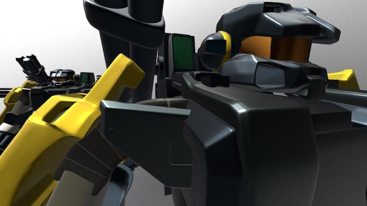 Halo Proto Suit 0.9 Showoff 3D Model