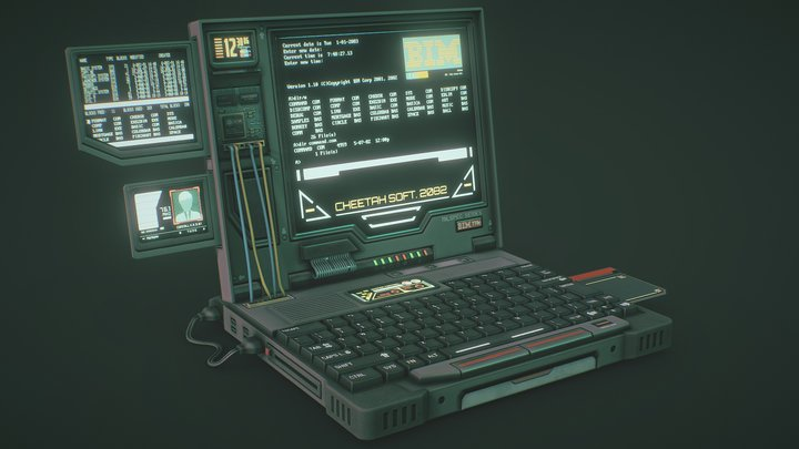 Cyberpunk Laptop 3D Model